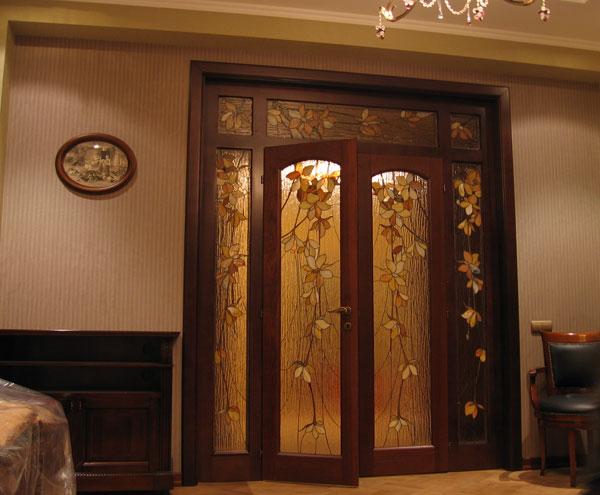 двери двойные в зал цена фото