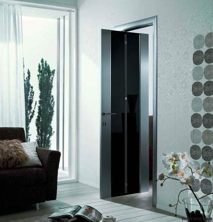 Межкомнатные двери в зал двойные
