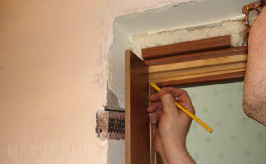 Установка двери межкомнатной своими руками ошибки