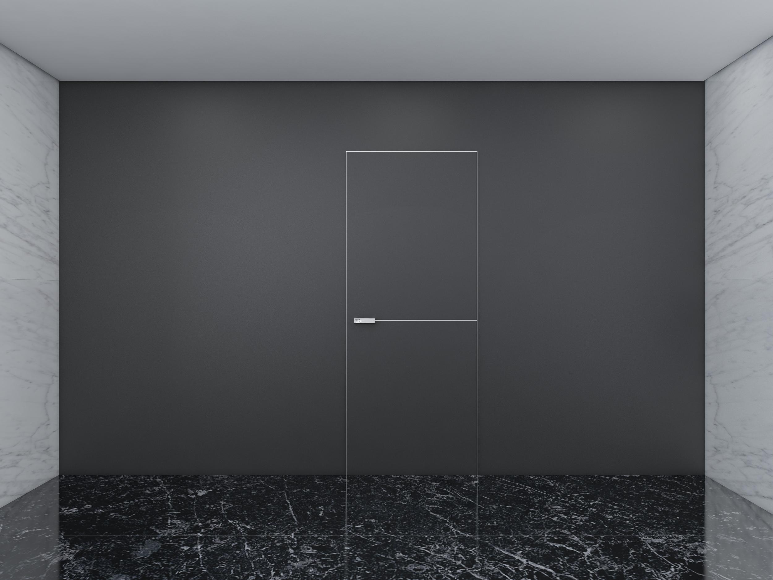 Скрытая дверь в интерьере