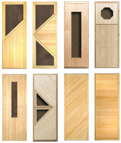 Комбинированные двери для бань и саун