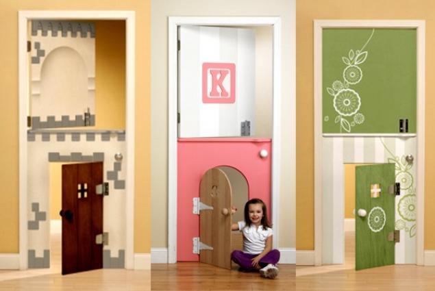 Двери для детской из многослойного стекла