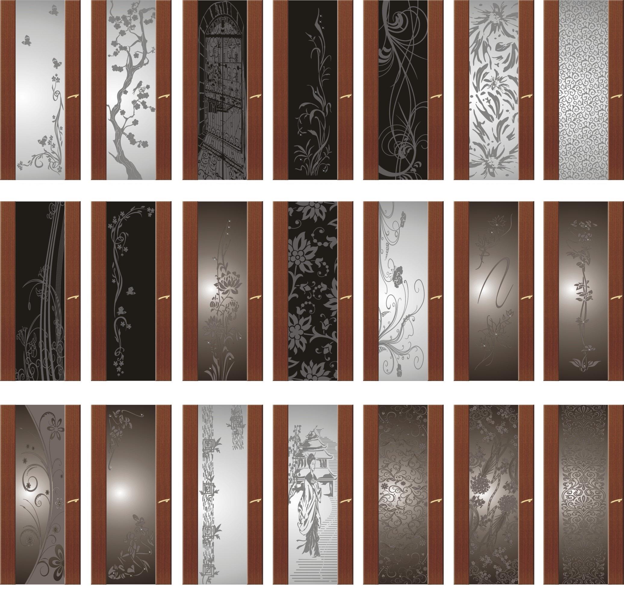 Дверные полотна со вставками стекла