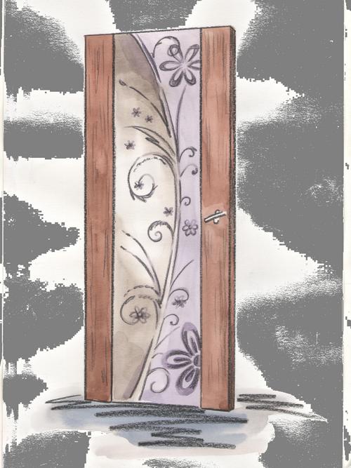 Эскиз с рисунком для двери триплекс