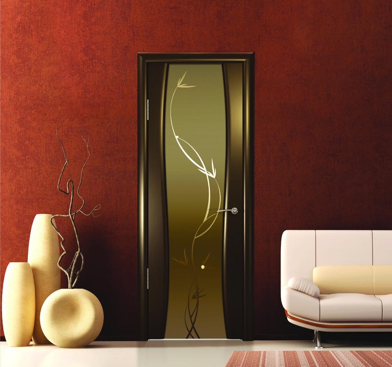 Стеклянная дверь Триплекс
