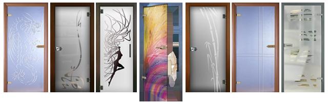 Рисунки на стеклянных дверях