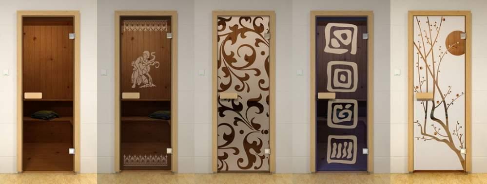 Стеклянные двери для саун