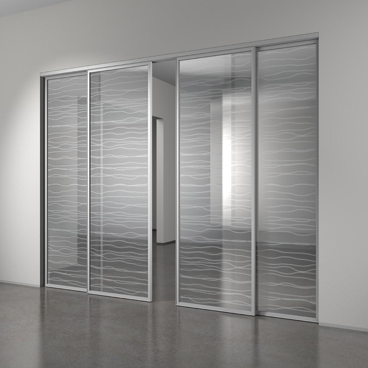 Алюминиевая дверь с декором