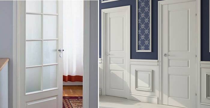 Двери из Финляндии белого цвета