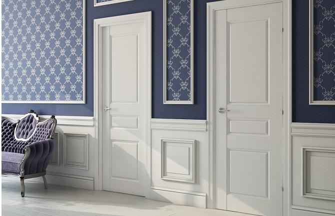Двери белого цвета в классическом стиле