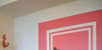 Розовая дверь