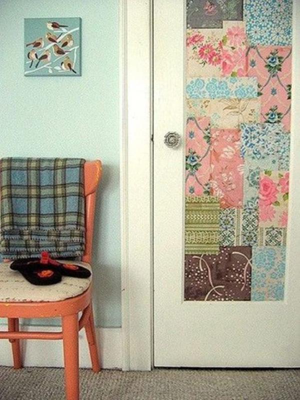 Дверь с отделкой тканью