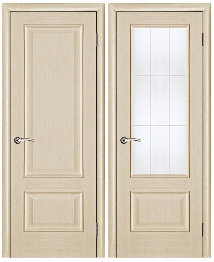 Внешний вид двери из беленого дуба