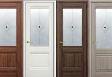 Двери со стеклянными вставками из экошпона