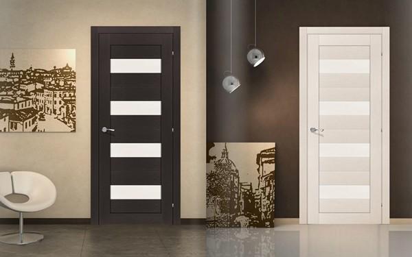 Белая и черная межкомнатные двери