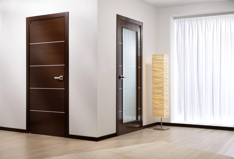 Двери цвета венге в оформлении интерьера