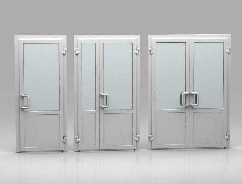 Белые пластиковые двери