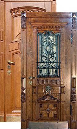 Заказать металлические входные двери из массива дуба
