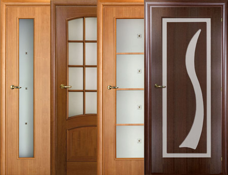 Различные двери со стеклянными декоративными вставками