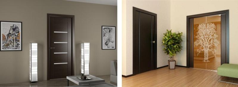Разновидности межкомнатных дверей венге