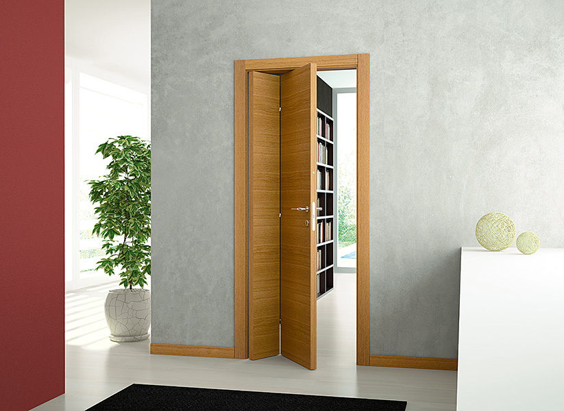 Межкомнатные двери книжки в интерьере фото