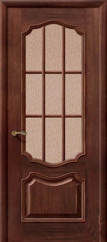 Дверь со вставкой из рифленого стекла
