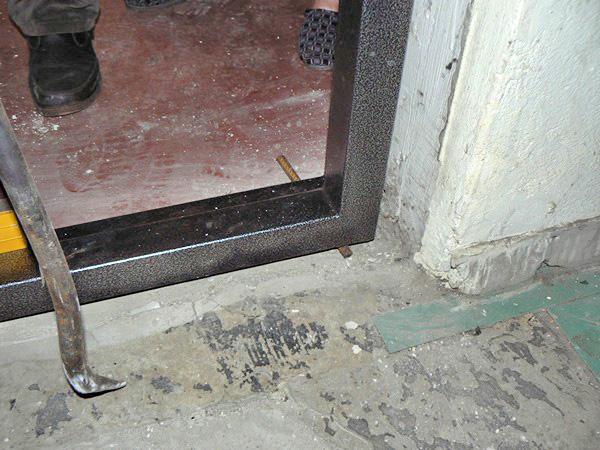 Основание проема входной двери