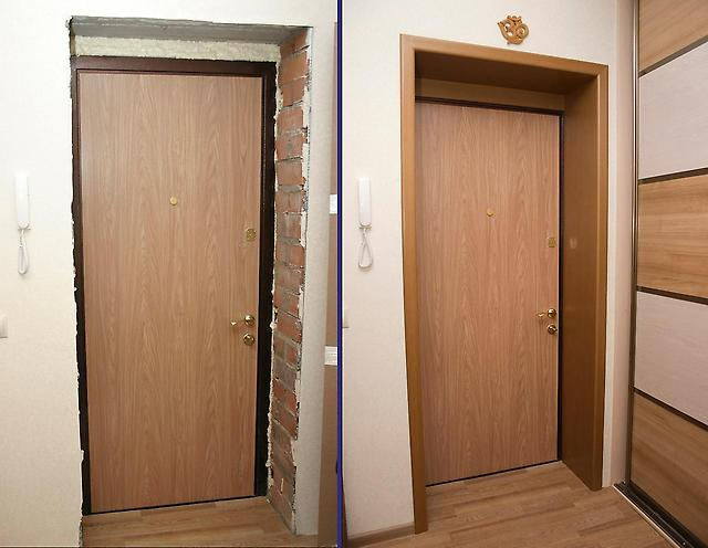Пример декора входной двери