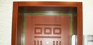 Откос железной двери