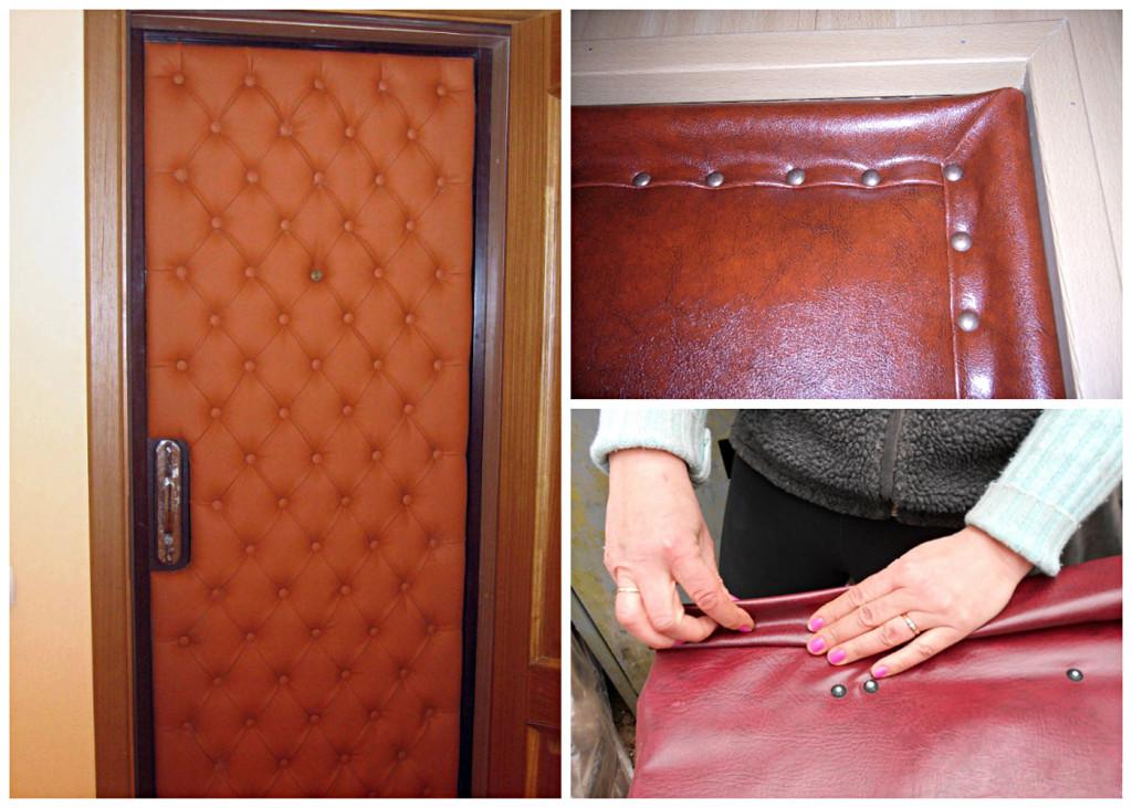 Обшивка металлической двери своими руками 60