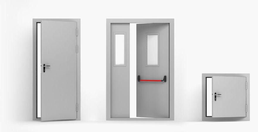 Различные виды противопожарных дверей