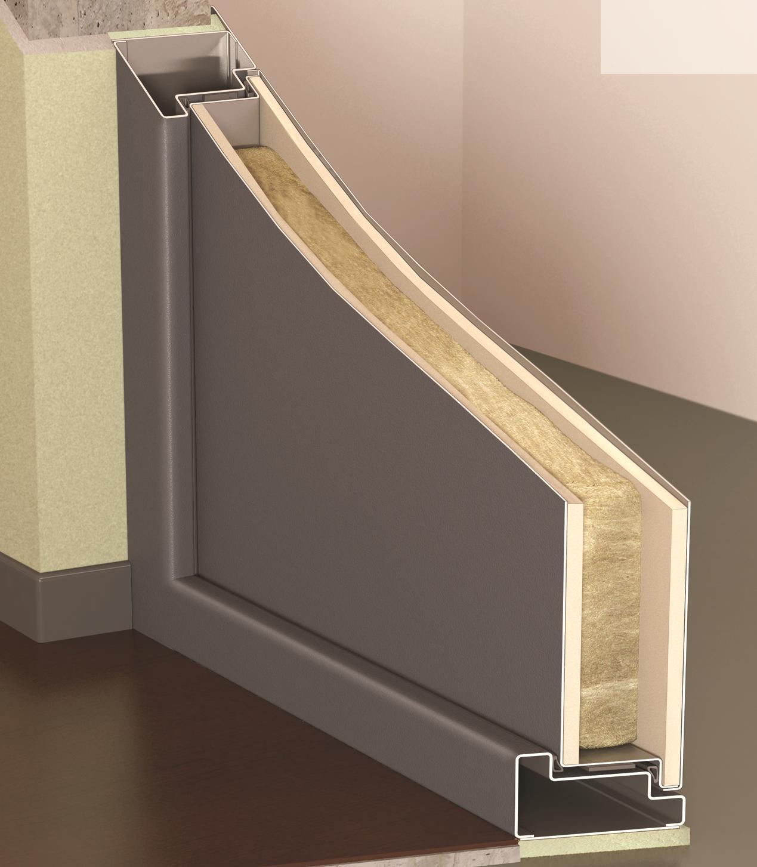 Полотно огнеустойчивой двери в разрезе