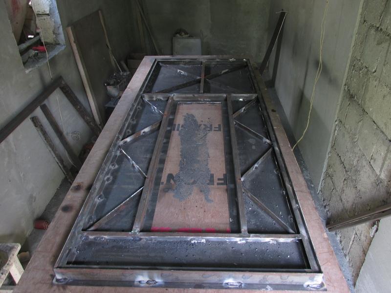 Изготовление железной двери своими руками