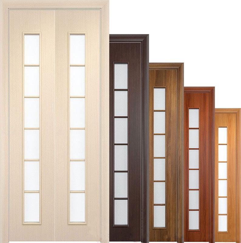 Различные складные двери из дерева