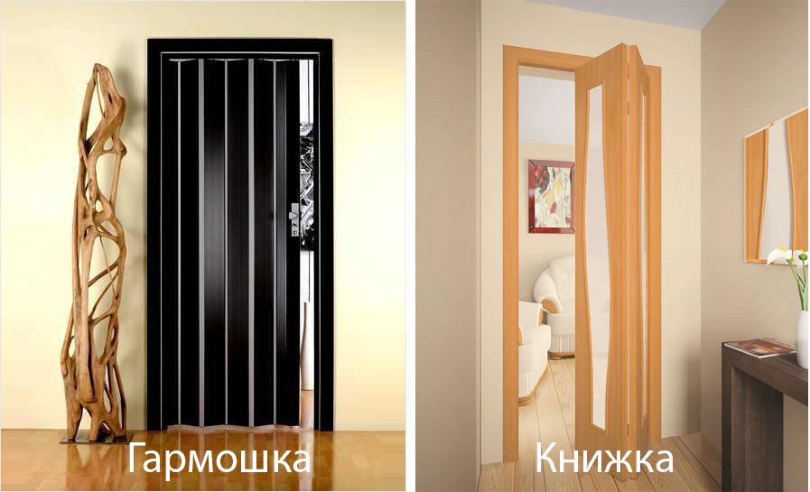 Дверь гармошка и книжка