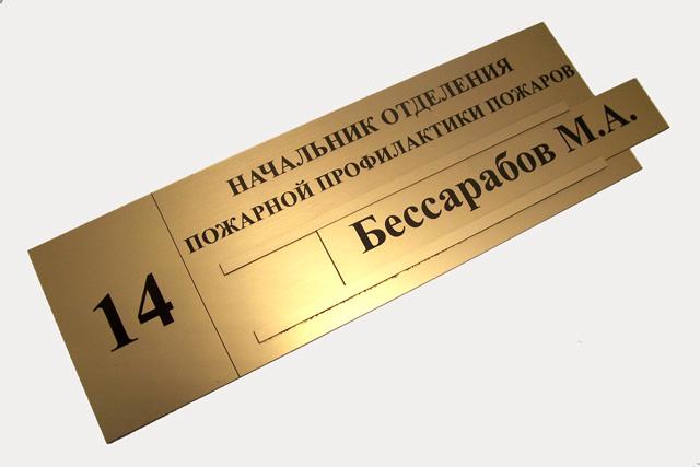 Табличка на дверь со сменяемой информацией
