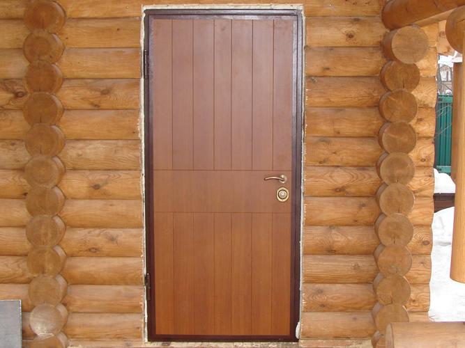 Как установить металлическую дверь в деревянном доме 100