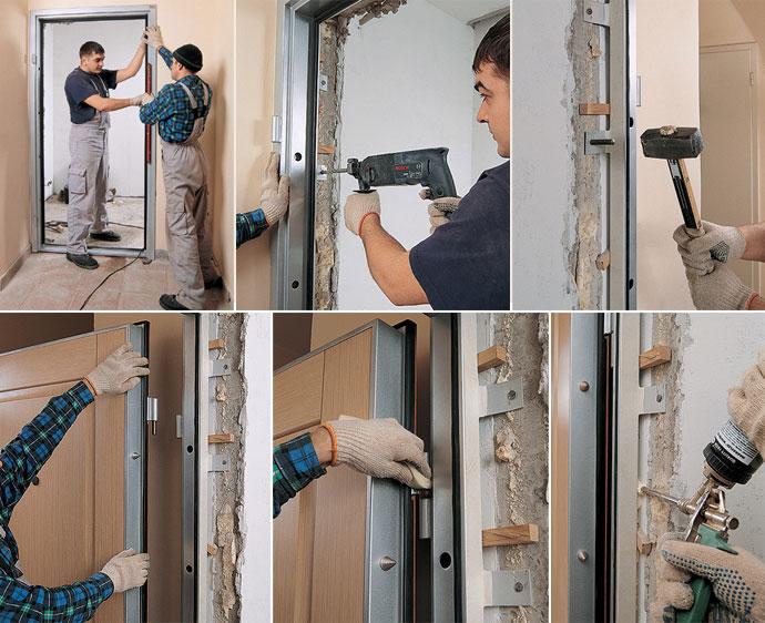 Установка наружной двери своими руками