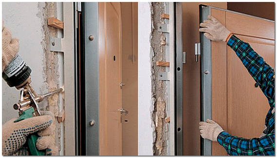 Установка железной дверей своими руками