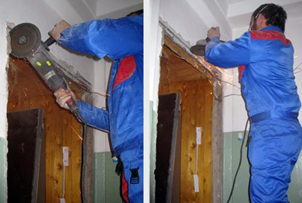 Демонтаж дверного проема своими руками 40