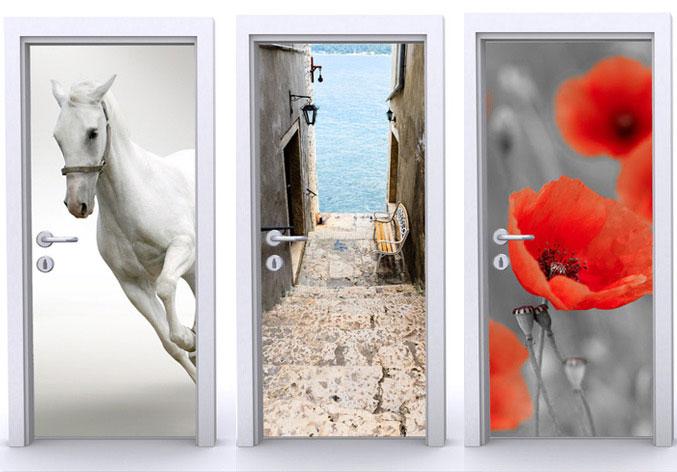 Фотообои на дверь самоклеющиеся
