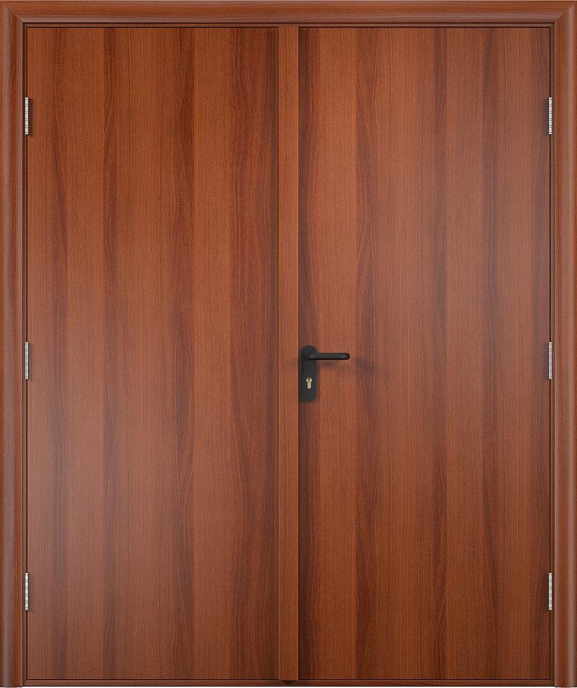 Двупольная противопожарная деревянная дверь
