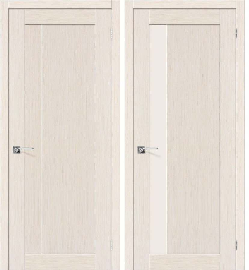Ламинированная дверь беленый дуб