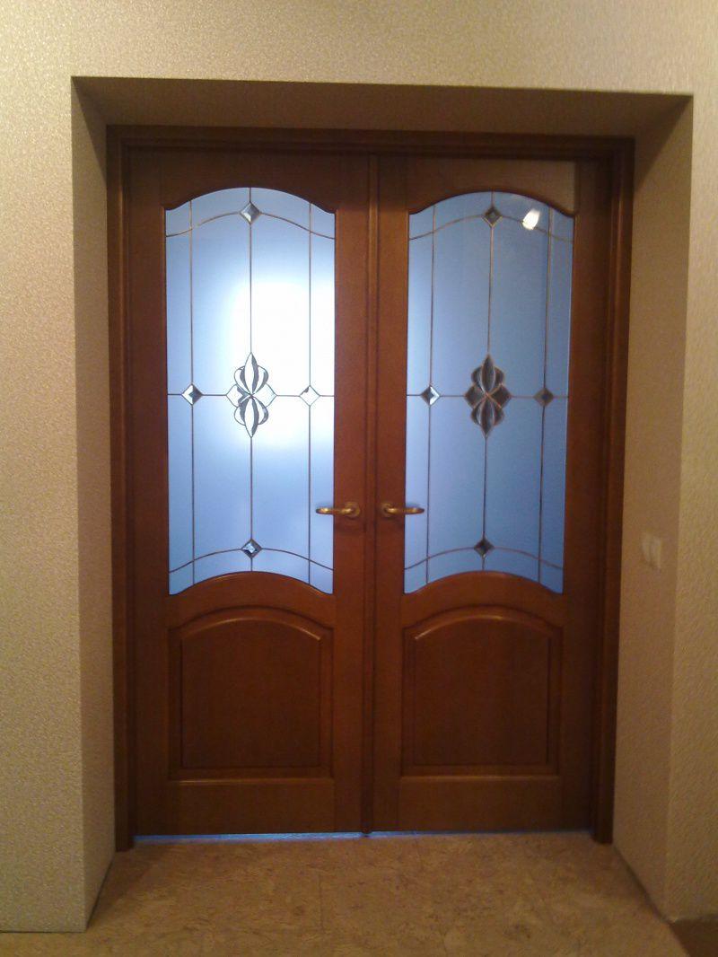 Распашные межкомнатные двери установка своими руками видео