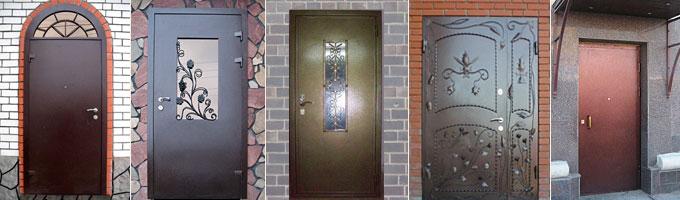Различные виды металлических дверей
