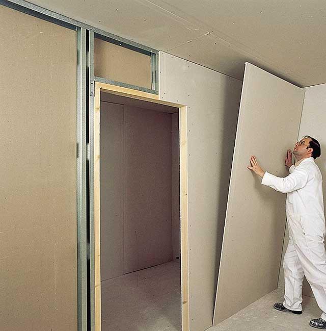 Установка двери в стену из гипсокартона своими руками