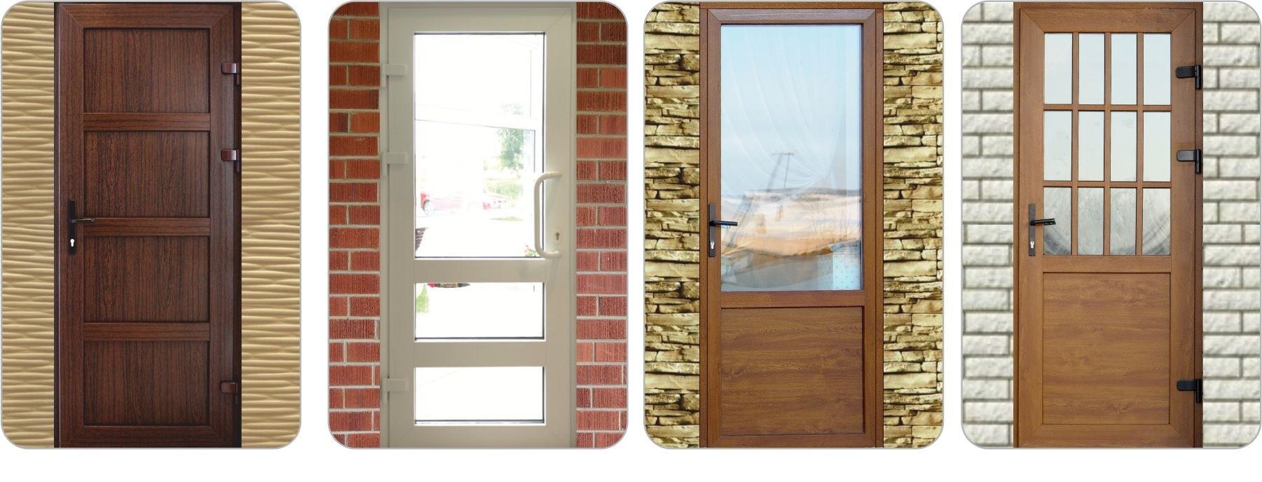 Различные модели ПВХ дверей