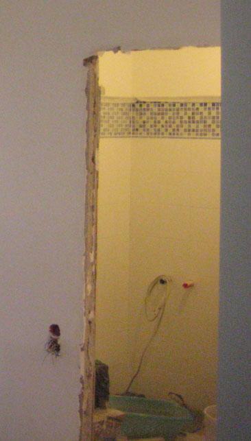 Проем в ванную