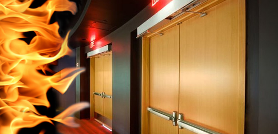 Огнеупорные деревянные двери