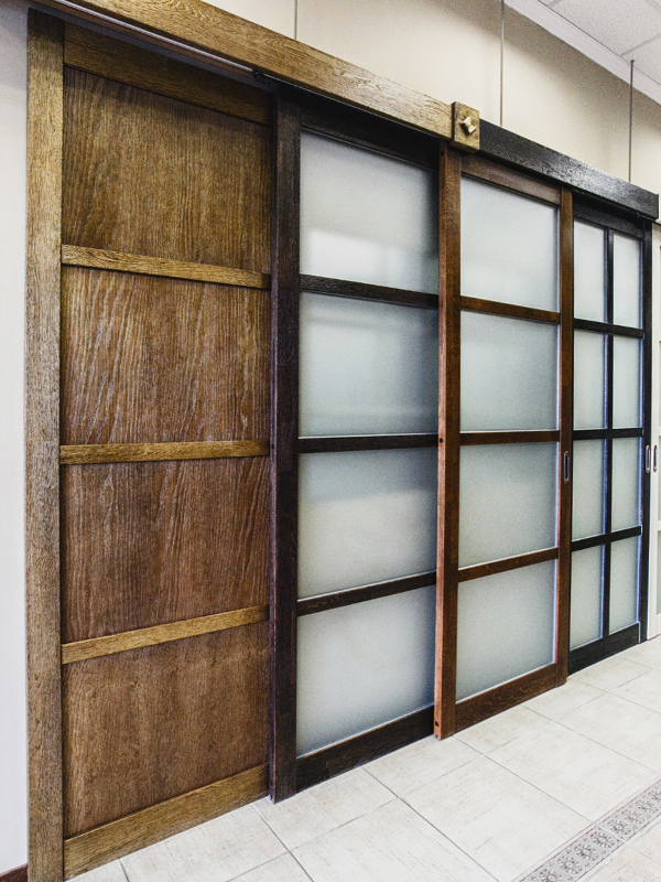 Деревянные сдвижные двери
